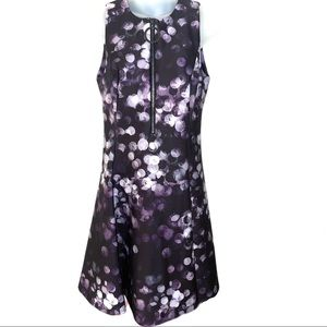 DKNY Zip Front Fit and Flair Dress